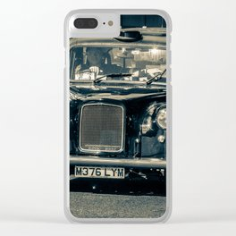 London cab Clear iPhone Case