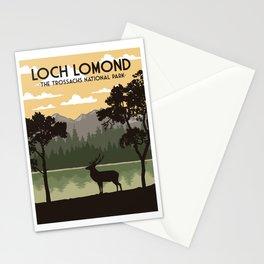 Loch Lomond Travel Poster Stationery Cards