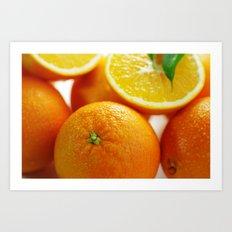 Fresh Orange for the Kitchen Art Print