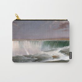 Frederic Edwin Church - Niagara Falls - Hudson River School Oil Painting Carry-All Pouch