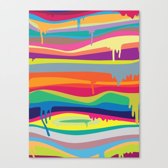 The Melting Canvas Print