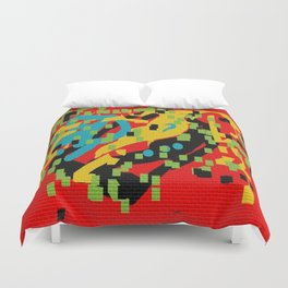 Mural abstract 2 Duvet Cover
