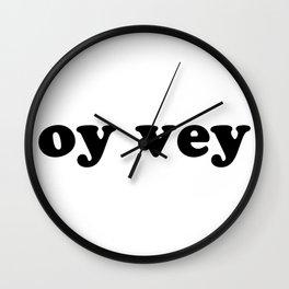 oy vey Nice Jewish Hanukkah Gifts Wall Clock