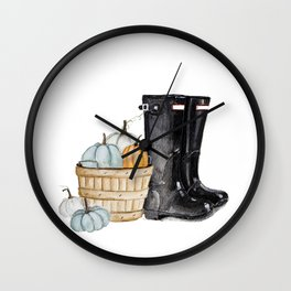Fall boots Wall Clock