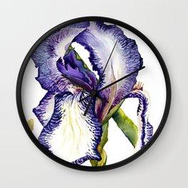 Violet Iris Wall Clock