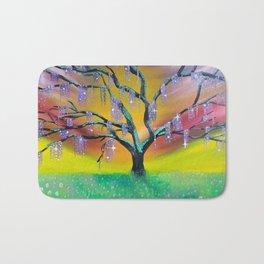 Entanglement, colorful tree landscape, beautiful landscape, cypress tree Bath Mat