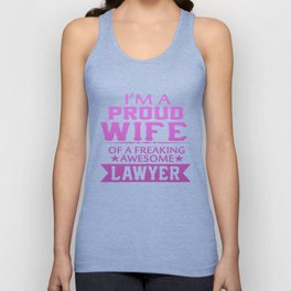 I'M A PROUD LAWYER'S WIFE Unisex Tank Top