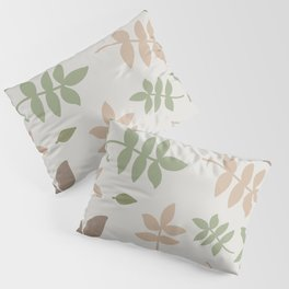 Kalanchoe Leaves - Succulent earth - nude - neutral colors - earthy tone - plant lady lover gift - botanical - natural - brown - beige Pillow Sham