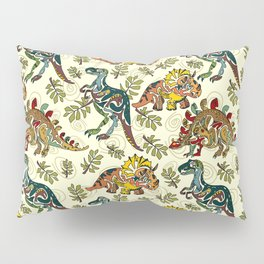 Tribal Dinosaur Pillow Sham
