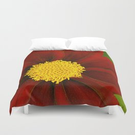 Ruby Coreopsis Duvet Cover