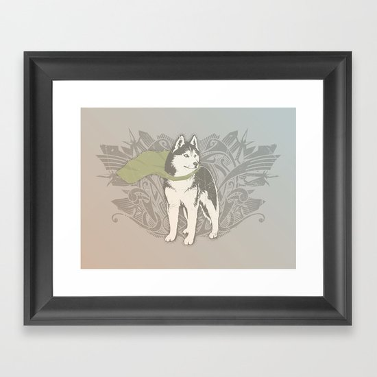 Fearless Creature: Eski Framed Art Print