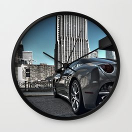 Ferrari in Chicago Wall Clock