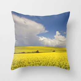 Yellow Canola fields - Landscape Photography #Society6 Throw Pillow