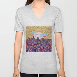 austin texas city skyline Unisex V-Neck
