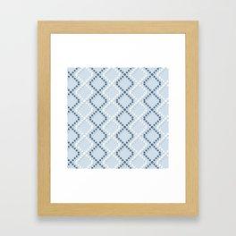 diamond formation Framed Art Print