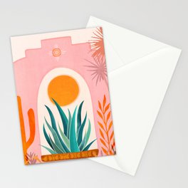 The Day Begins / Desert Garden Landscape Stationery Cards