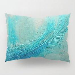 Blue Wave Texture Painting Pillow Sham
