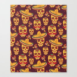 Day Of The Dead Gringo Canvas Print
