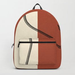 In half with curvy line Backpack