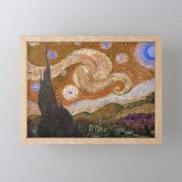 Vincent Van Gogh Starry Night 1889 Framed Mini Art Print