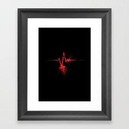 Flatline Framed Art Print