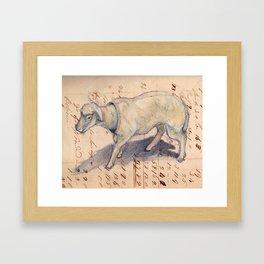 Vintage Celluloid Sheep Nodder Framed Art Print