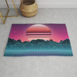Sunset Vaporwave Aesthetic Rug
