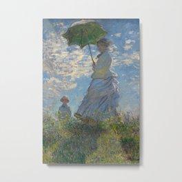 Claude Monet, Woman with a Parasol Metal Print