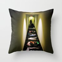 travel poster Throw Pillows featuring Travel by Camilo Rojas