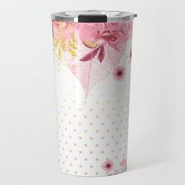 Modern Glam Chic Flowers #2 Travel Mug