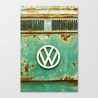 vw Canvas Prints featuring VW Retro by Alice Gosling