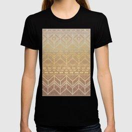 Neutral Tan & Gold Tribal Ikat Pattern T-shirt