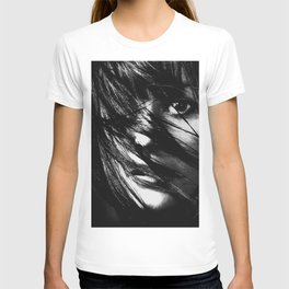 Girl, Face, Beauty, Model, Lips, Hair, Modern, Minimal, Interior, Wall art T-shirt