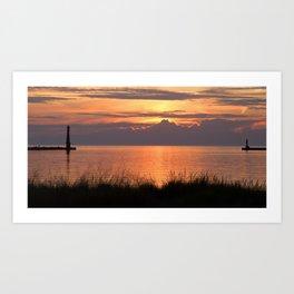 Sundown Gold Art Print