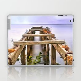 Derrytrasna Jetty, Ireland. (Painting) Laptop & iPad Skin