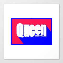 Queen of New York (Blue & Red) Canvas Print