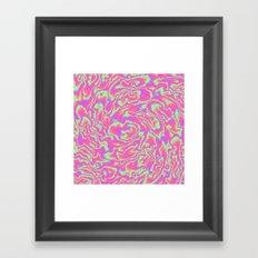 Turbulence in Tutti Fruitti Framed Art Print