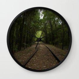 Tree Tunnels Wall Clock