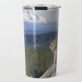 Chipmunk Facing Tom Dick and Harry Mountain Travel Mug