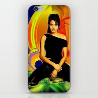 angelina jolie iPhone & iPod Skins featuring Angelina Jolie by JT Digital Art