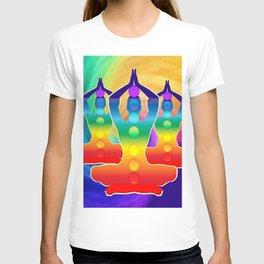 TRIPLE Om Meditation Mantra Chanting DESIGN T-shirt