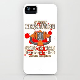 This is the awesome revolutionary Tshirt Those who make peaceful revolution Change the world & fight iPhone Case