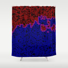 Bleeding Pixels Shower Curtain