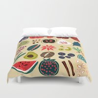 spice Duvet Covers featuring Fruit and Spice Rack by Picomodi