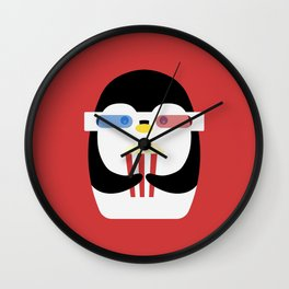 Penguin + Movie Time Wall Clock