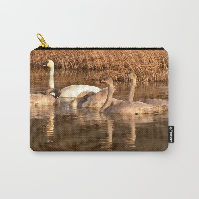 Trumpeter Swan Family Carry-All Pouch