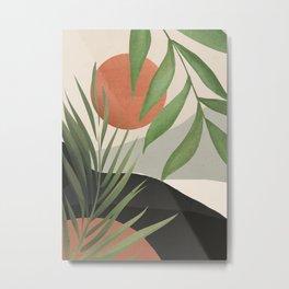 Abstract Art Tropical Leaves 46 Metal Print