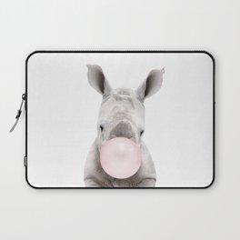 Bubble Gum Baby Rhino Laptop Sleeve