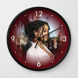 Rihanna - Celebrity - Oil Paint Art Wall Clock