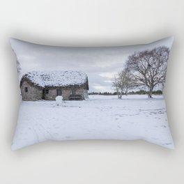 Last house at Culloden battle field Rectangular Pillow